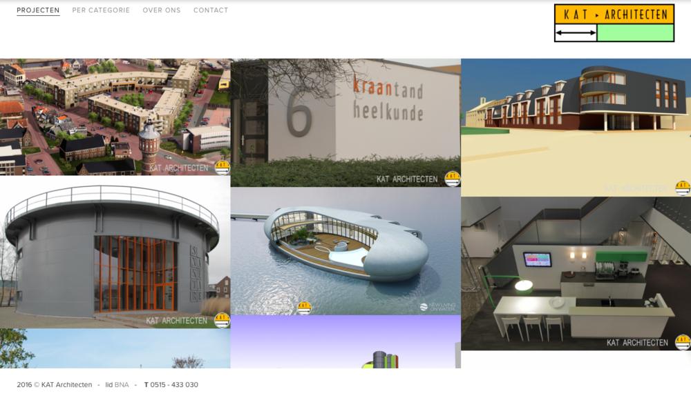 Portfolio van een architectenbureau