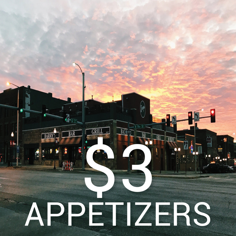 Come get $3 appetizers on the Rooftop!