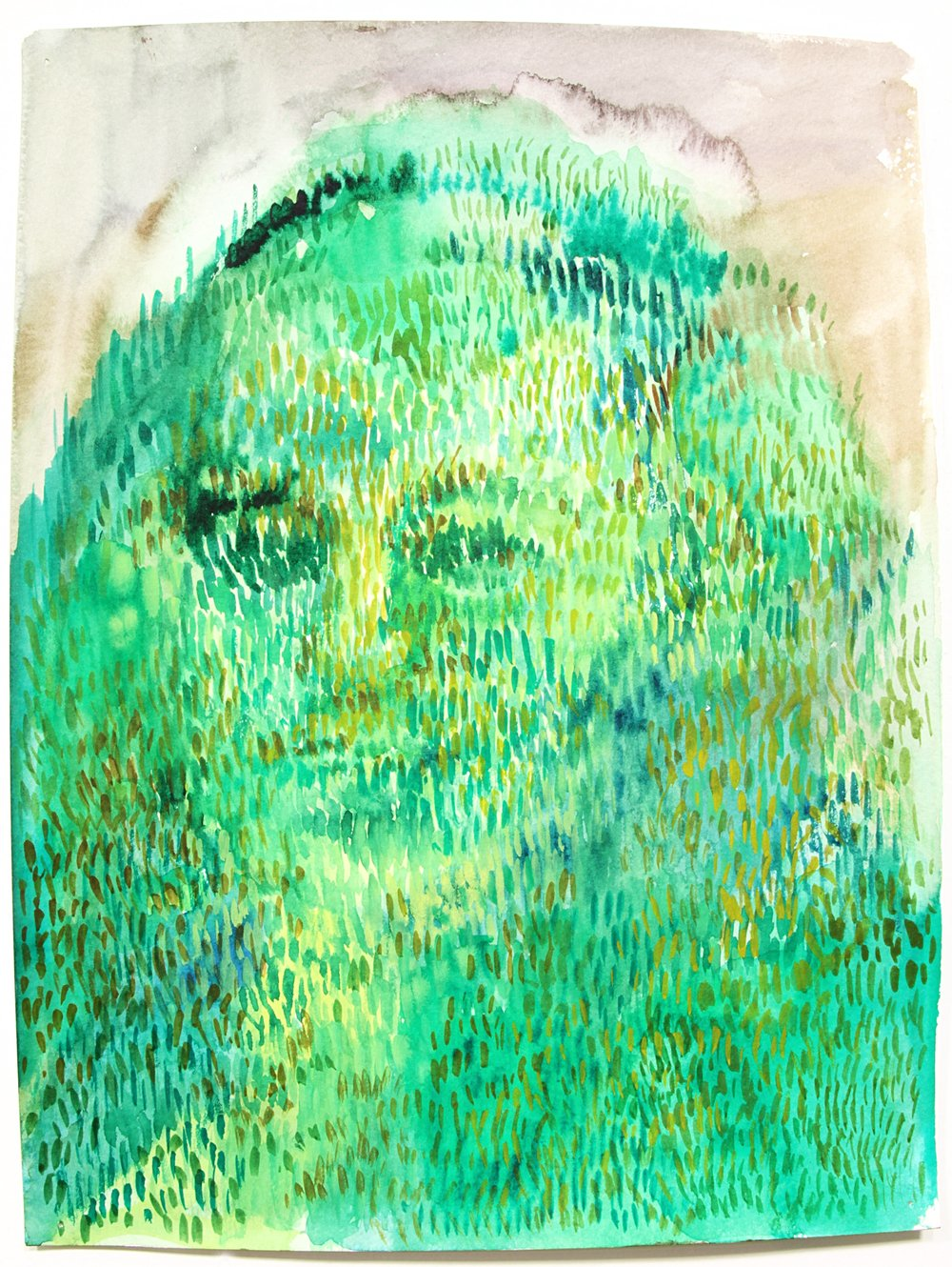Valerie Hegarty,  George Washington Topiary , 2015, watercolor on paper