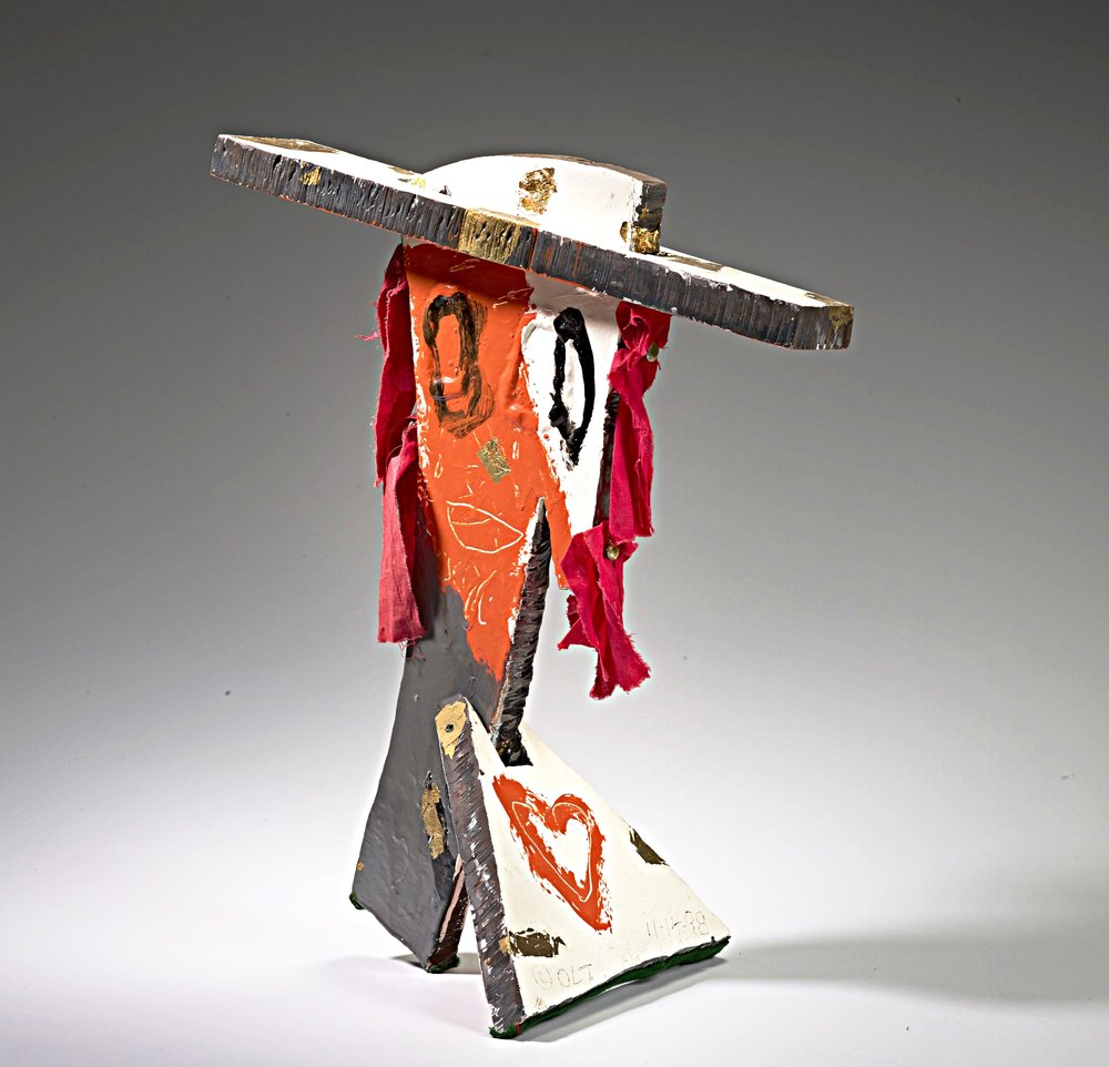 Oliver Lee Jackson,  Bust VI , 1998, steel, mixed media