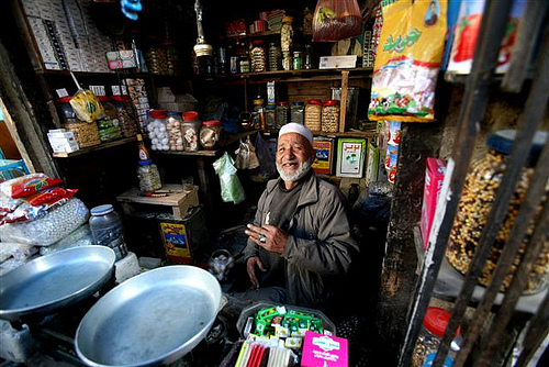 Afghan shop keeper