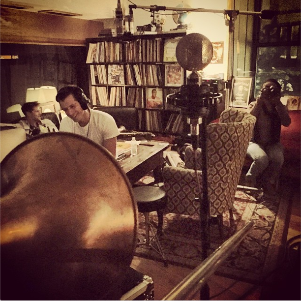 In the studio with Mark Ronson