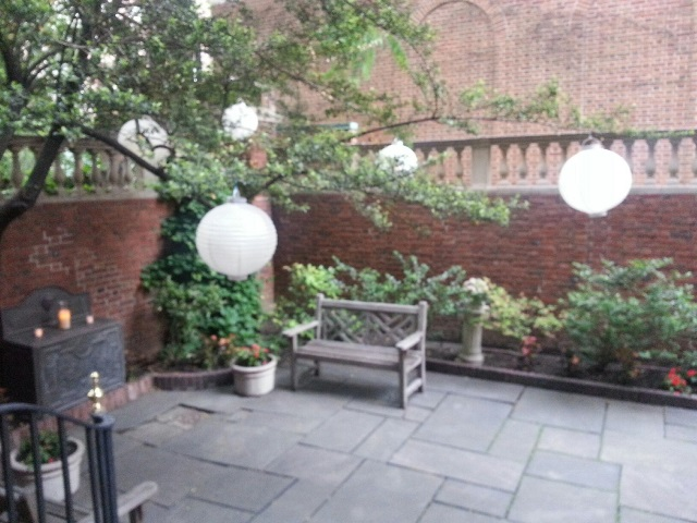 garden on left with tree decorations.jpg
