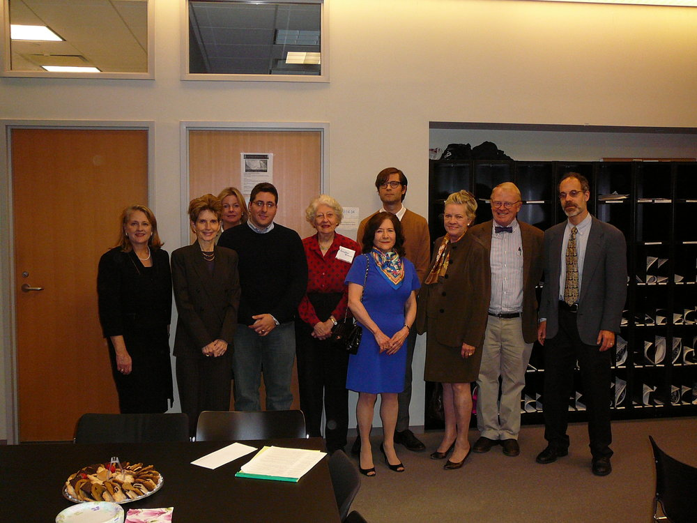 Members of the board with CUNY students and faculty