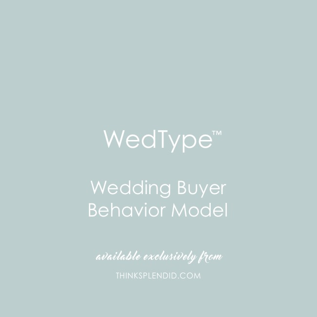 wedtype wedding buyer behavior model