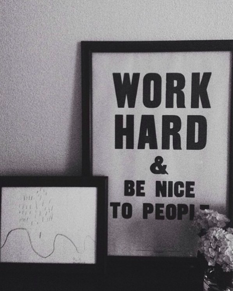 Artwork by Benny Kanofsky (left) and  Anthony Burrill  (right).