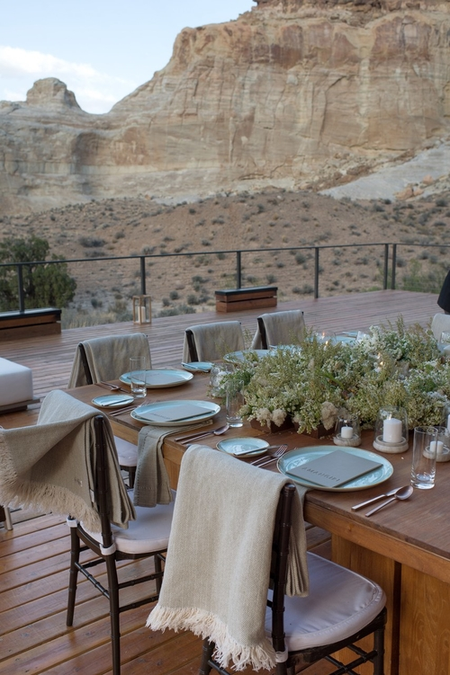 Wedding at    Amangiri   . Photo by    Cameron Clark   .