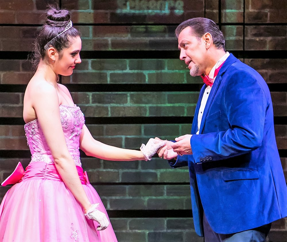 Quiñones with Sofia Klimovsky as his daughter Paula. Photo by Marisol Diaz.