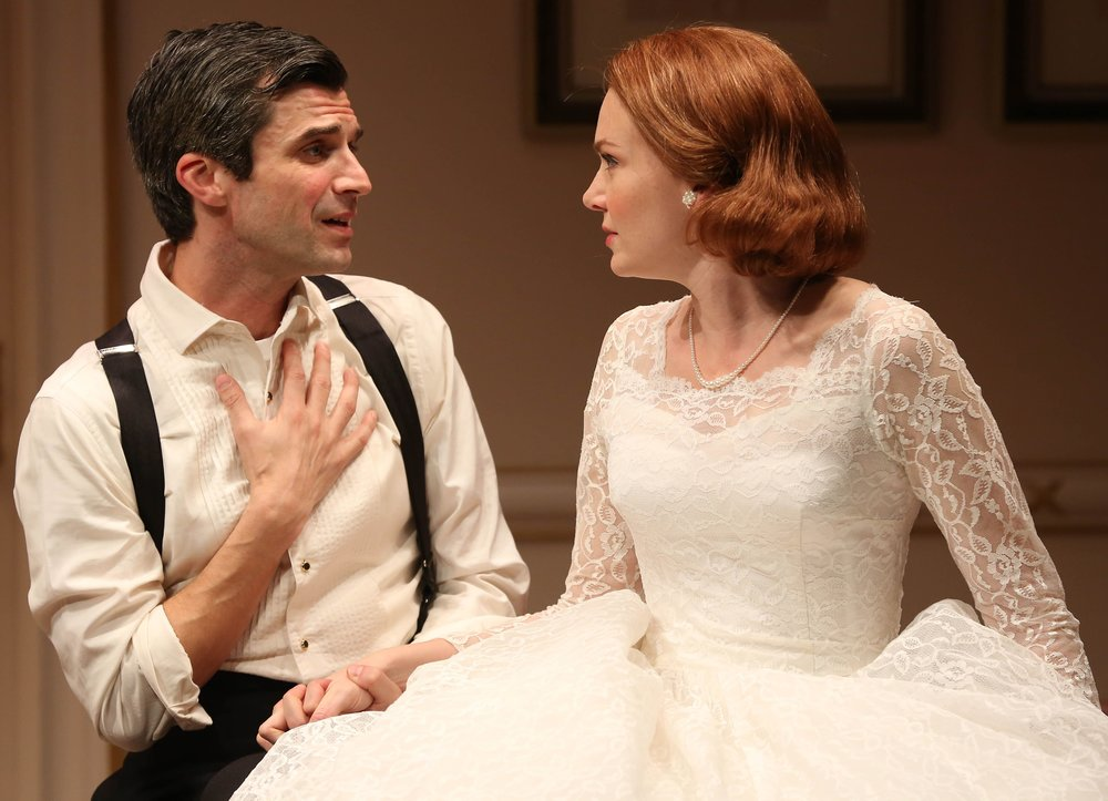 Michael Crane and Holley Fain play newlyweds in  This Day Forward . Photographs by Carol Rosegg.