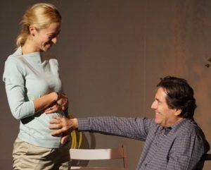 Nicole Kontolefa as Sue and Scott Barton as Fred in Toscana, Or Things I Remember. Pictured above is Scott Barton. Photography by Seth Perlman.