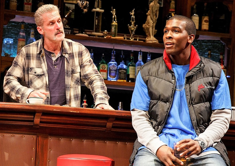 Sweat James Colby is Stan and Khris Davis is Chris in  Sweat.