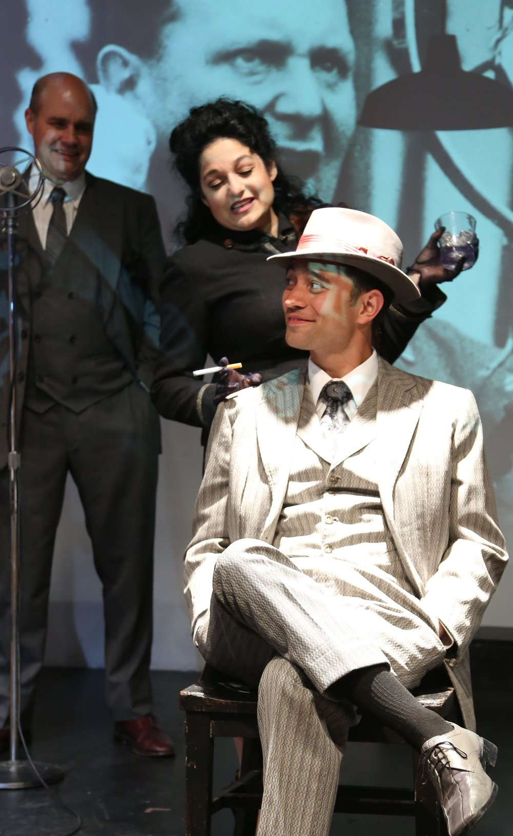 Sergio Fuezalida (left?) and ZJosh Tyson play gangsters in Bertolt Brecht's allegorical play.