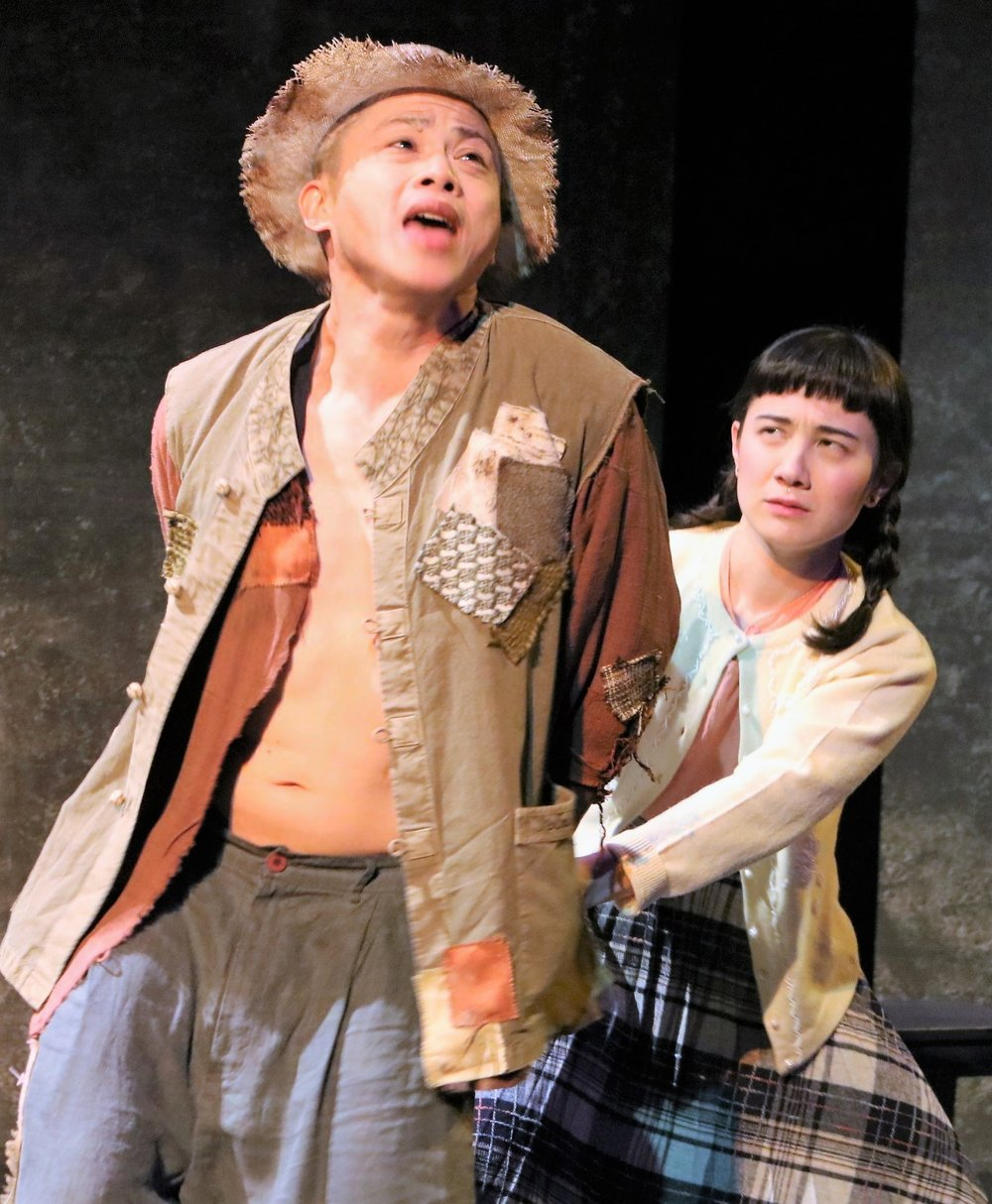 Briana Sakamoto (right) with Doan as the Blind Man.