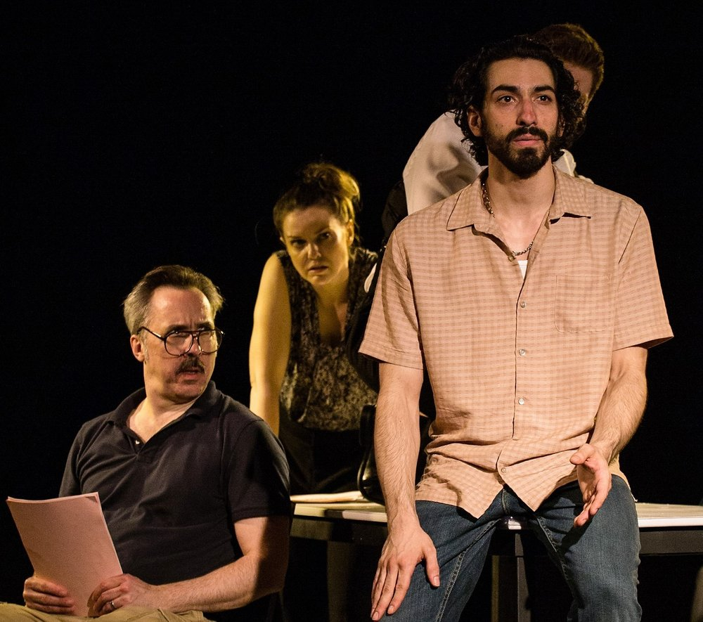 From left: D'Haene and Larisa Oleynik with Joe Joseph in  Baghdaddy.  Photos by Ambe Williams.