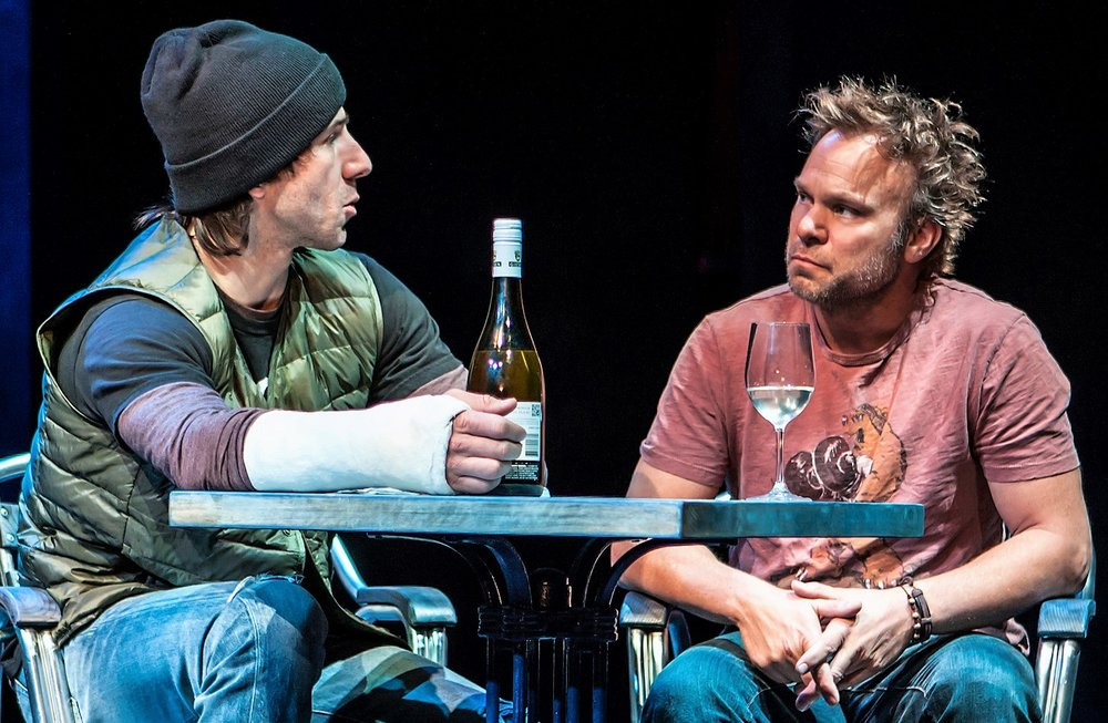 Butz (right) with Alex Hurt as Greg. Photos by Monique Carboni.