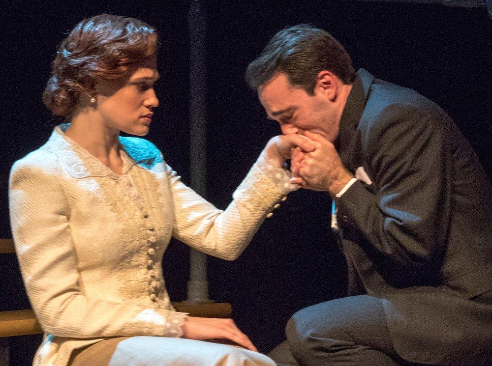 Paton Ashbrook as Pamela Carey, with Brand as Bob. Photos by Richard Termine.