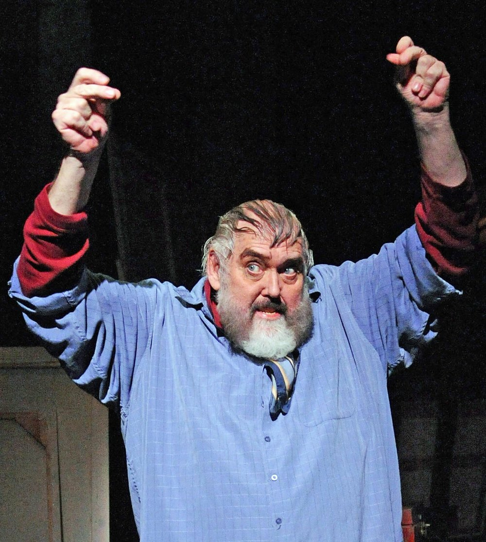 Jim Brochu (above and at top) plays actor Zero Mostel, star of Fiddler on the Roof and the film The Producers, in Zero Hour. Photographs by Stan Barouh.