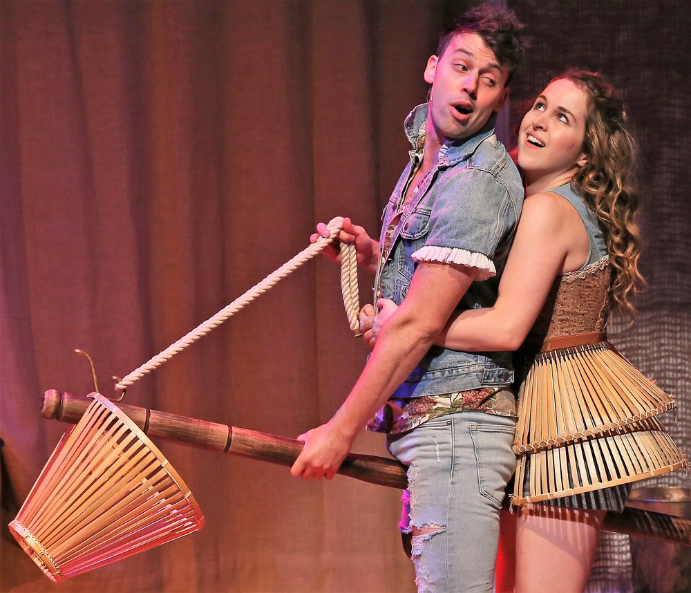Tom with Molly Seagrim (Alie B. Gorrie). Photographs by Carol Rosegg.