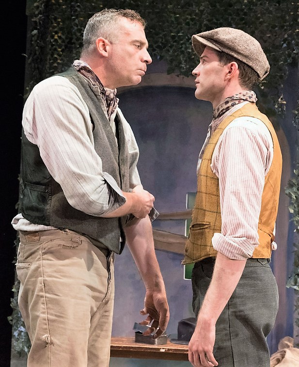 Redmond and A.J. Shively (right) appear as Peter Kinsella and Jim Harris in The King of Spain's Daughter. Photographs by Richard Termine.