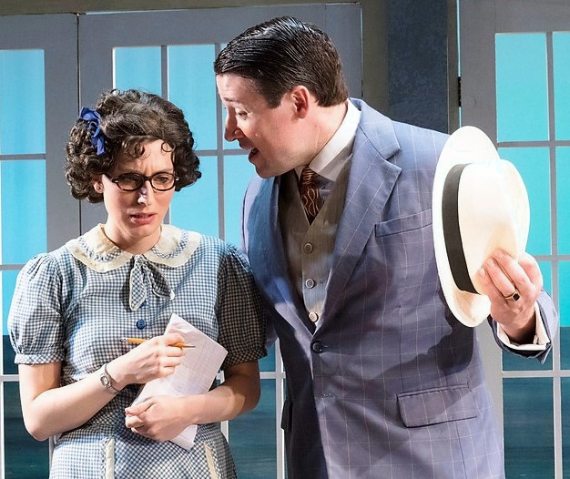 Deaver and Ryan as Hetty and Derek Mackey in Holiday House by Deevy.