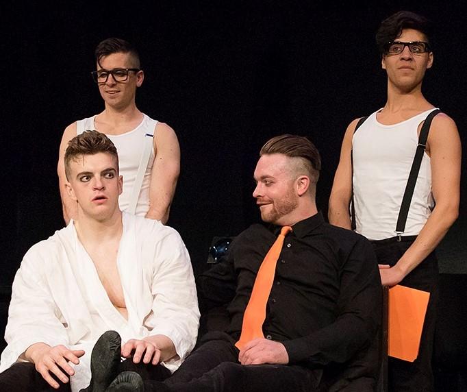 From left: Davies, Matt Doyle, Ashley Robinson and Aleksander Varadian. Photographs by Caitlin McNaney.