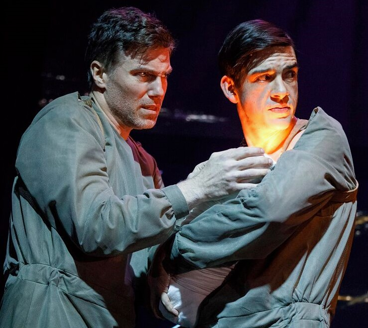 Mount (left) with Bobby Moreno as Jason. Photographs by Joan Marcus.