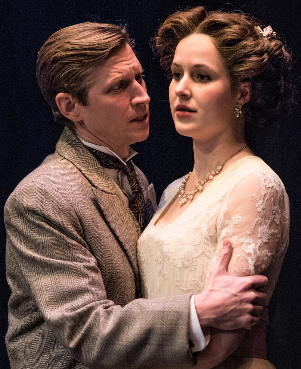 Beck and Emma Geer as Beatrice Farrar, his fiancée, in  Hindle Wakes .