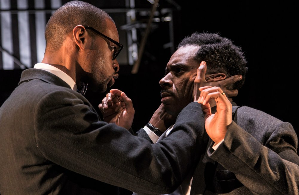 Malcolm (Cole) and Eugene (Joshua David Robinson) share an intense moment. Photographs by  T. Charles Erickson.