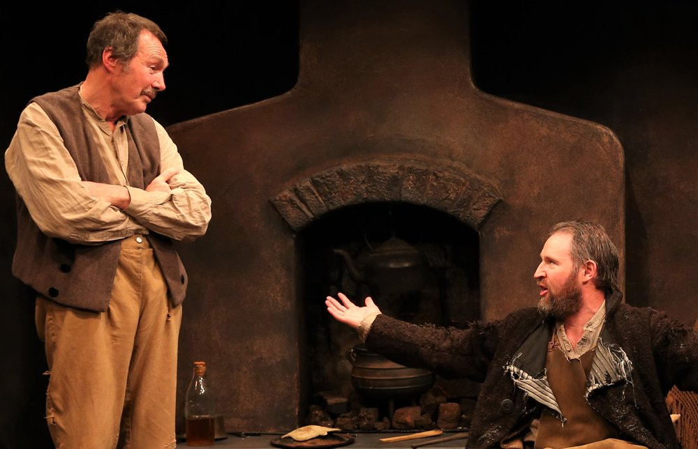 Lane as John, with David O'Hara as the tramp in  The Pot of Broth , by William Butler Yeats and Lady Gregory. Photographs by Carol Rosegg.