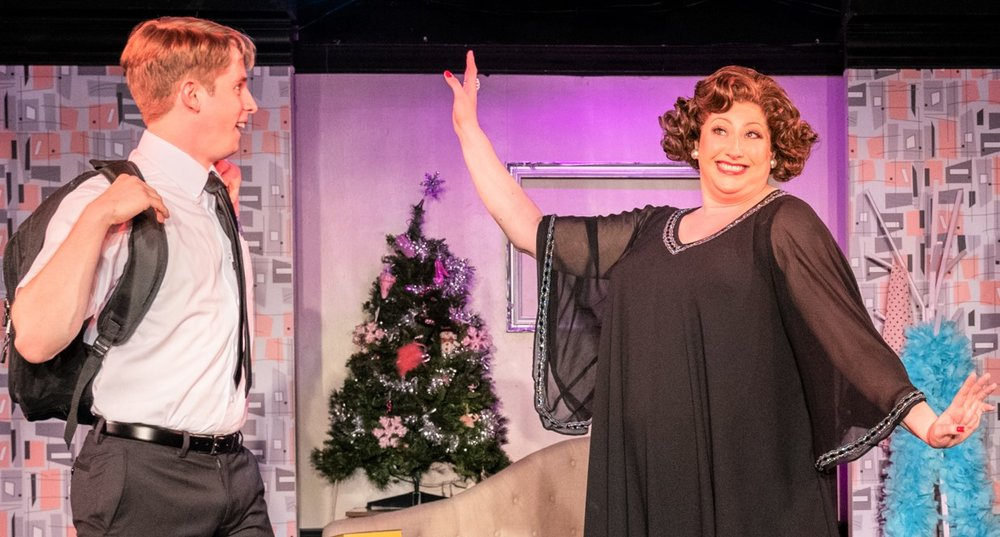 Wilkinson as Braithwaite meets Ethel Merman (Carly Sakolove). Photographs by Russ Rowland.