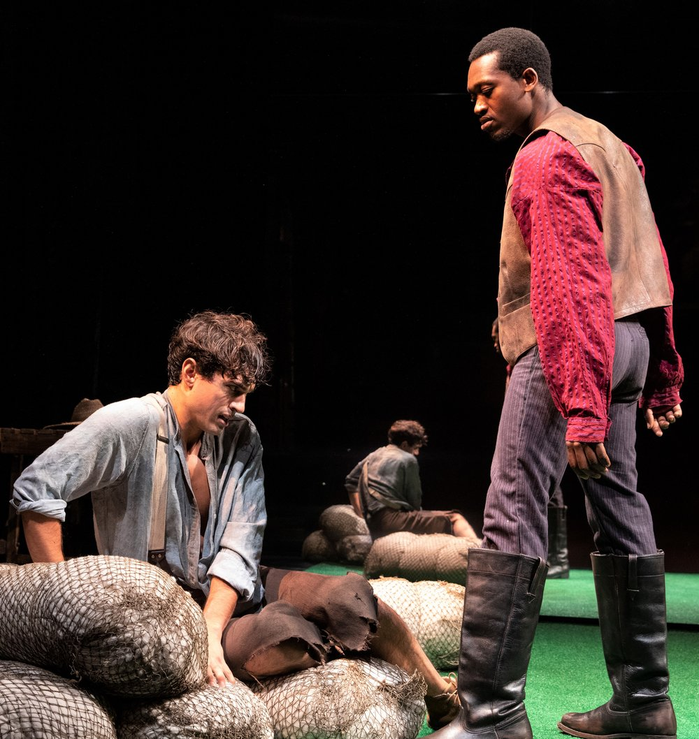James Cusati-Moyer plays Dustin and Ato Blankson-Wood is Gary. Photographs by Joan Marcus.