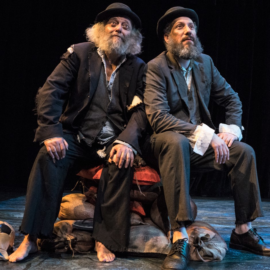 Mandelbaum and Rosen as the tramps in Beckett's existential tragicomedy. Photographs by Dina Raketa.