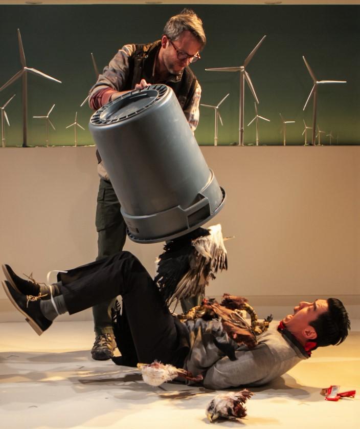 A desperate Michael gives the arrogant Cooper his due. Photographs by Monique Carboni.