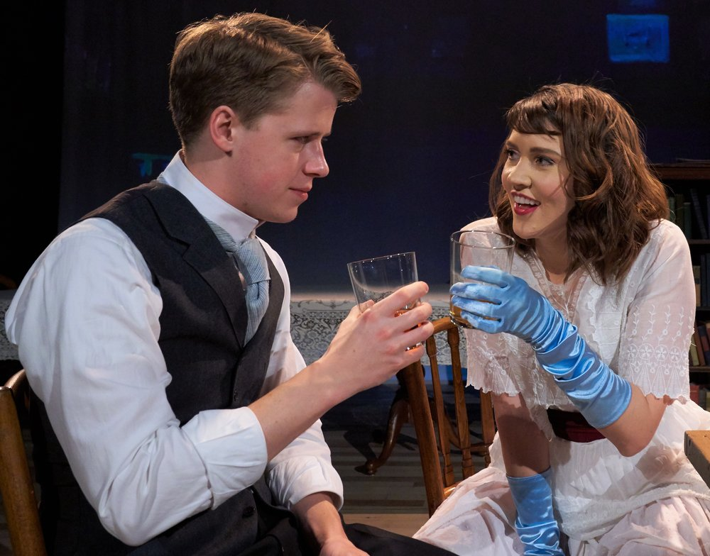Richard  almost goes astray with Belle (Natalie Pavelek). Photographs by Michael Abrams.