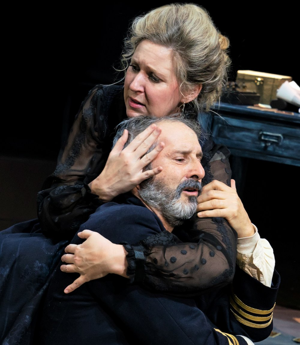 Beck and Topol play a couple locked in a toxic marriage in Strindberg's classic. Photographs by Joan Marcus.