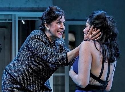 Birnbaum with Socorro Santiago (left) as her scornful mother Cornelia.