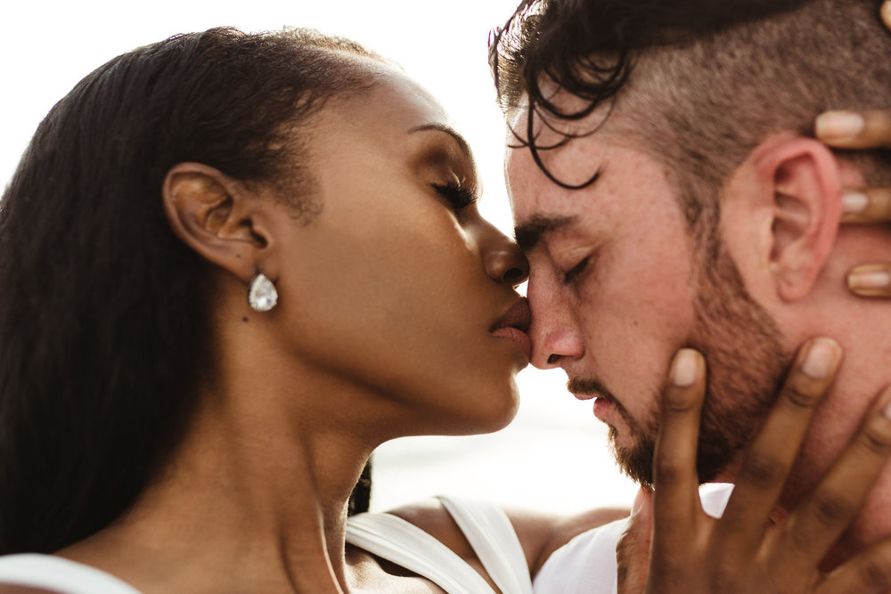 biracial engagement photos