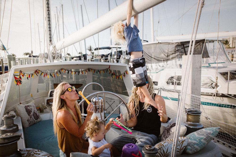 sailboat lifestyle family photos