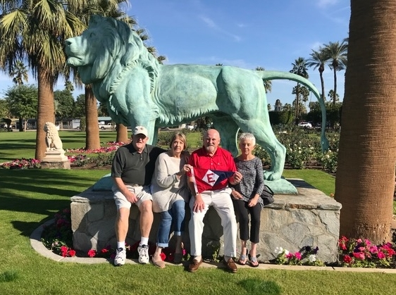 John & Sandy Franklin and Rex & Bonnie Ballenger show their EYC colors at the Empire Polo Club in Indio, CA.