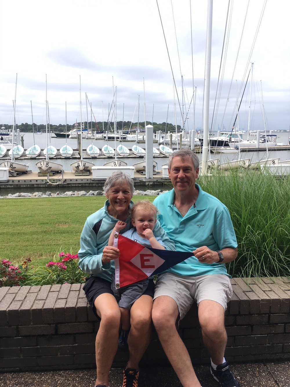 Vicky and Bill Boyce with grandson Lucas in Virginia Beach, VA.