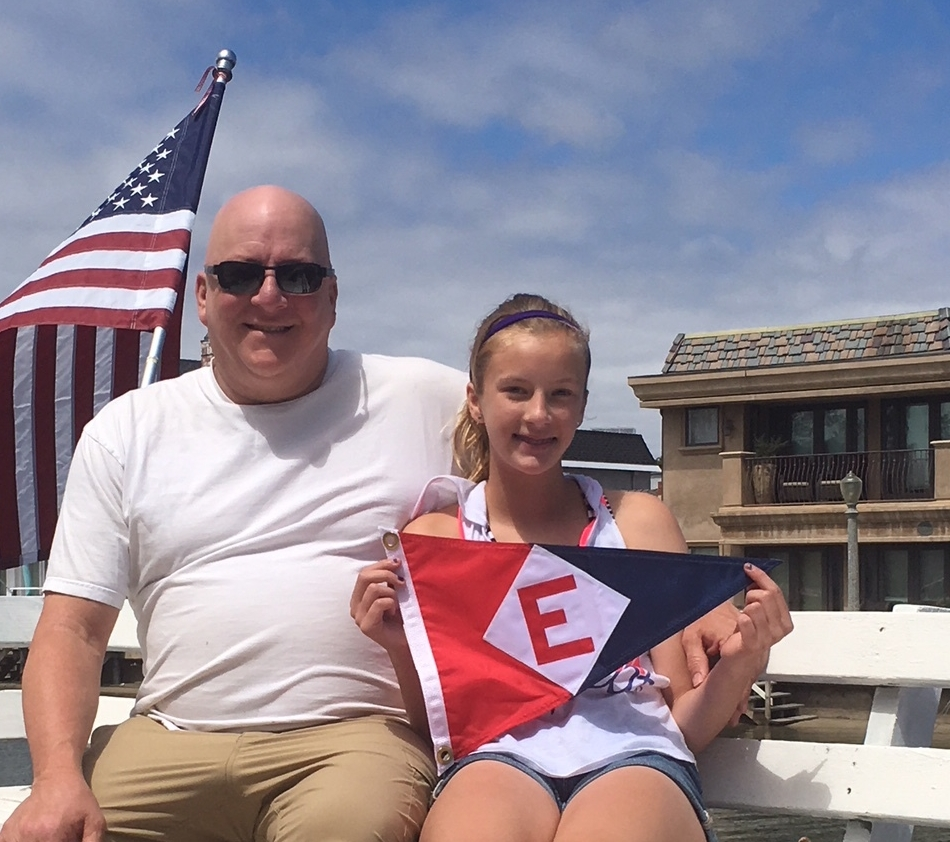 David and Else Langan show their EYC pride on Balboa Island, CA.