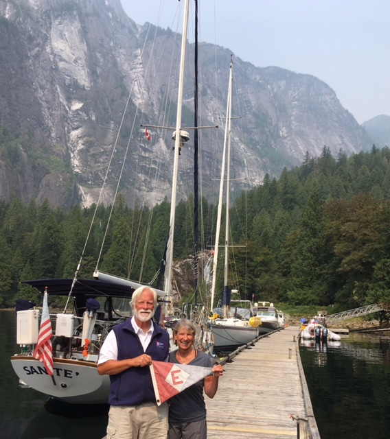 Ken & Chris Emmes off the grid at Chatterbox Falls, British Columbia