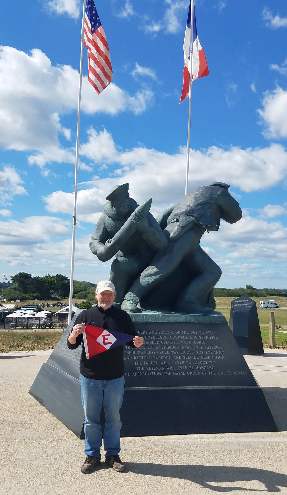 Ted Walkup at Utah Beach in Normandy, France