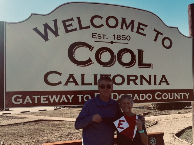 Commodore Bill Boyce and wife Vicky in Cool, CA.