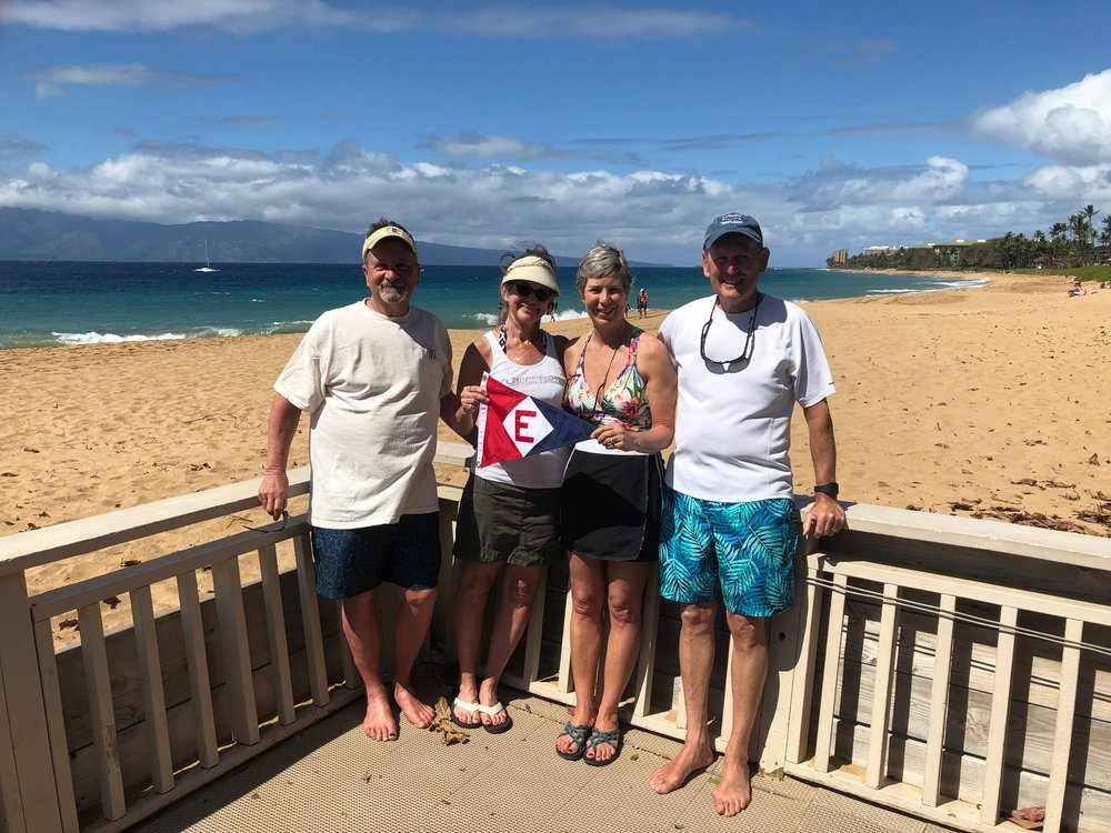 Mark & Sheena Schroeder and Jane & Gary Powell traded snow for sun and sand in Maui.