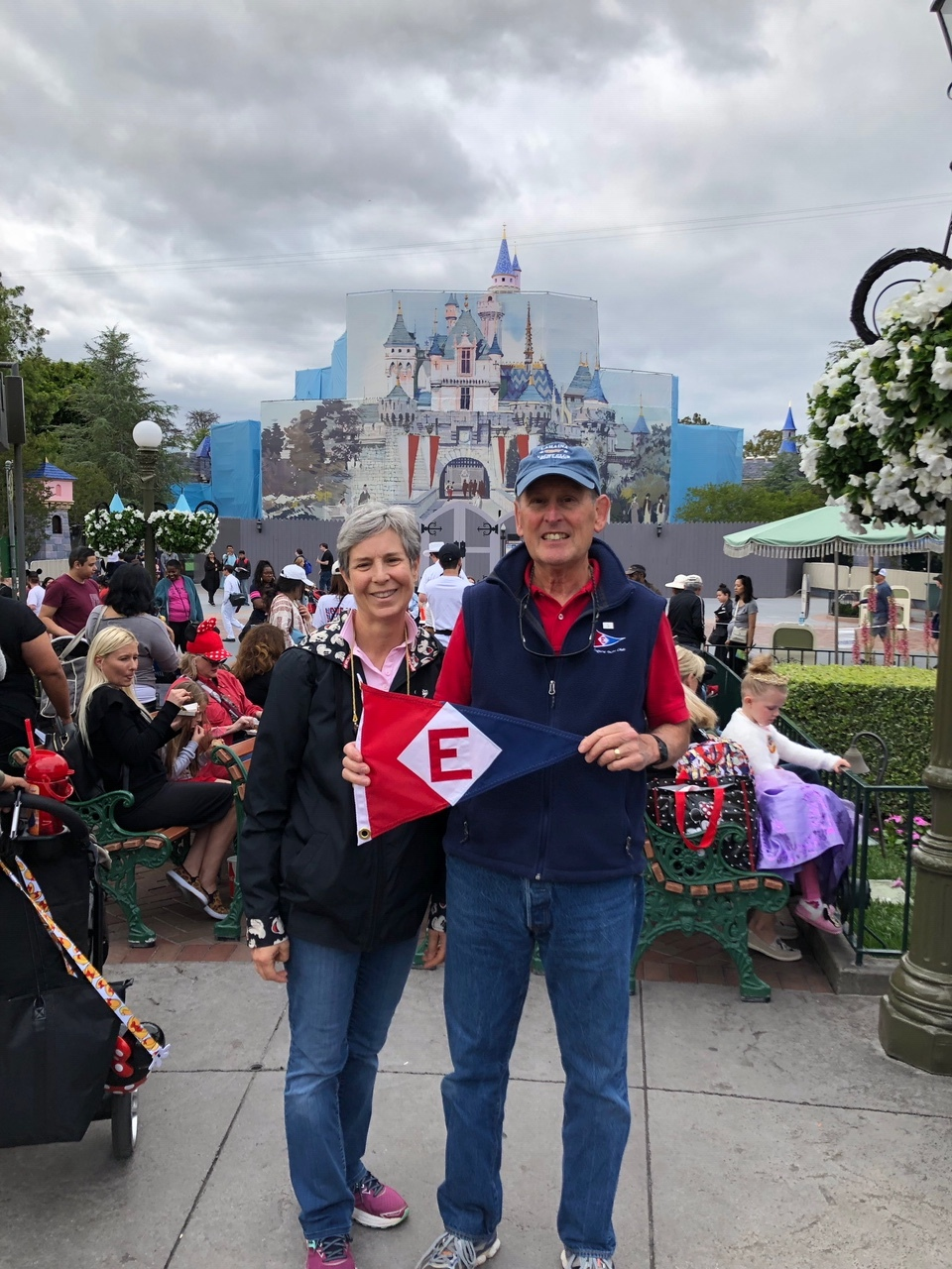 Gary and Jane Powell show their pride at the happiest place on earth—Disneyland!