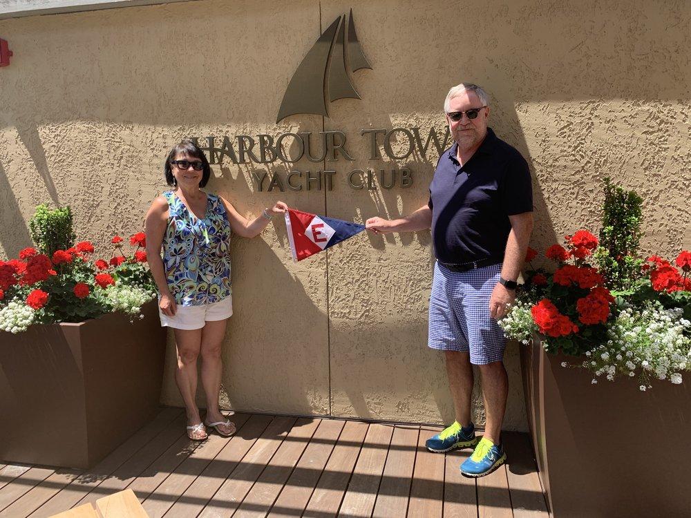 Marie & Richard Johnson at Harbor Town Yacht Club in South Carolina