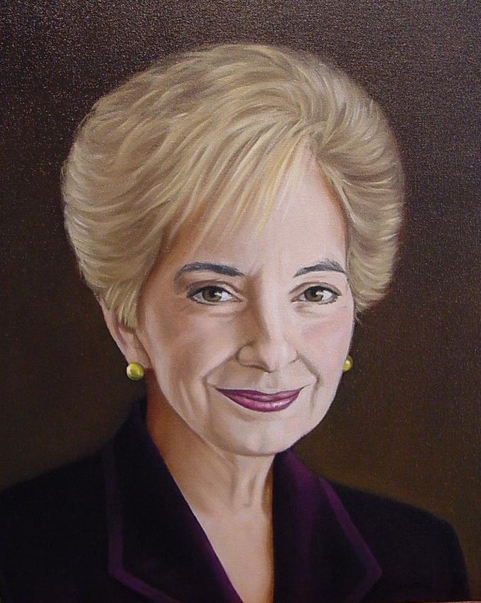 "Jean F.,  Oil on canvas, 20"" x 16"""