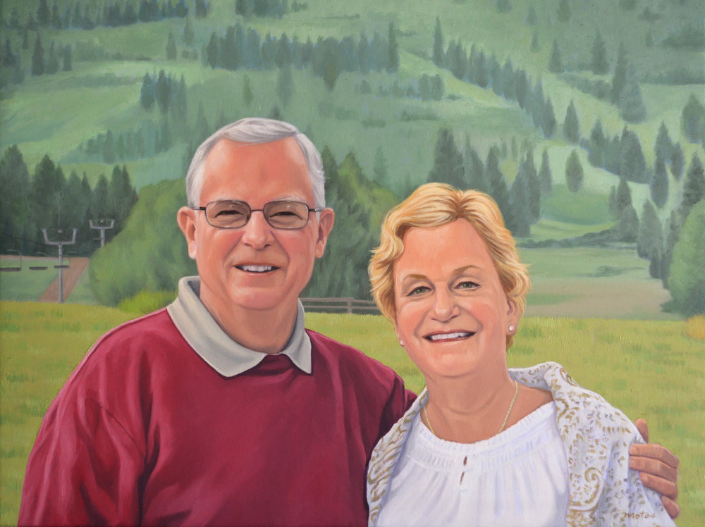 "Tom & Joyce,  Oil on canvas, 18"" x 24"""