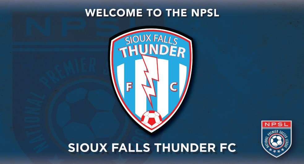The National Premier Soccer League (NPSL) is proud to announce that Sioux Falls Thunder FC (Sioux Falls, SD) has joined the league as an expansion team. The club will compete in the Midwest Region's North Conference.